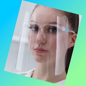 Clear Face Shield With Glasses